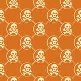 Orange Skull Pattern Stock Image
