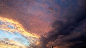 orange sky Fotografering för Bildbyråer