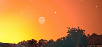 orange sky Arkivbilder