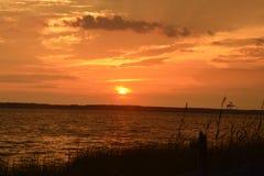 orange sky Royaltyfri Fotografi