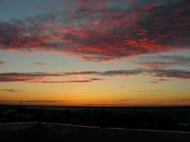 orange sky Royaltyfria Bilder