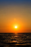Orange sky with aura on sea, scenery live, zen. Evening sunset orange sky with aura on sea, morning time,romantic and sweet time. scenery of live and zen image royalty free stock images