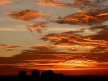 Orange Sky during Dawn Stock Image
