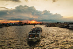 Orange sky in the evening Royalty Free Stock Images