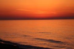 Orange sky at sunrise Royalty Free Stock Photography