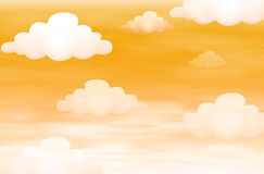 Orange Sky With Clouds Stock Image
