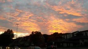 Orange Sky. Yellow orange Sky Royalty Free Stock Images