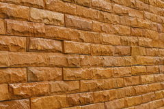 Orange slate stone wall for pattern and background Royalty Free Stock Photography
