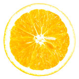Orange slice. Isolated on white background Royalty Free Stock Photography