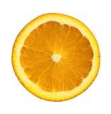 Orange Slice. A slice of juicy orange isolated on white background Stock Photos