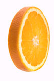 Orange slice. Closeup on white background Royalty Free Stock Images
