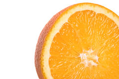 Orange slice. Closeup on white background Royalty Free Stock Photos