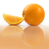 Orange With Slice Royalty Free Stock Photography
