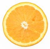 Orange slice. Half orange slice isolated on white top view Stock Photo