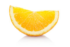 Orange slice. Isolated on white, clipping path included Royalty Free Stock Photography