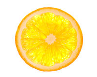 Orange slice. Is isolated on the white Stock Photography
