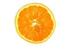 Orange slice. Juicy orange slice cut with work path Royalty Free Stock Images