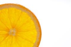 Orange slice. Close-up of orange slice on white background Royalty Free Stock Images