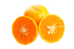 Orange and slice Royalty Free Stock Photography