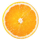 Orange slice. Slice of fresh orange isolated on white background Royalty Free Stock Photography