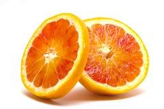 Orange slice. Blood orange  slice isolated on white background Stock Images