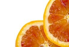 Orange slice. Blood orange  slice isolated on white background Royalty Free Stock Photography