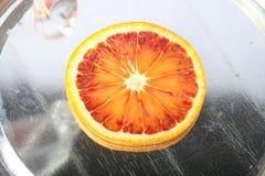 Orange slice. Blood orange slice Royalty Free Stock Photos
