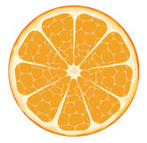 Orange slice. Healthy slice of oranfe. Vector illustration stock illustration
