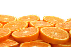 Orange slice background. With top copyspace Royalty Free Stock Image