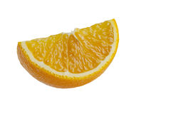 Orange slice close up. Isolated Stock Photo