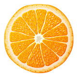 Orange slice close up Stock Photo