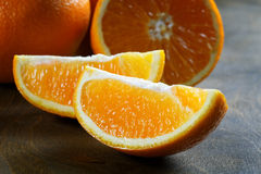 Orange slice close-up Stock Photos
