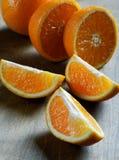 Orange slice close-up Stock Photos