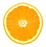 Orange Slice Closeup Details Isolated On White Background. Fresh orange isolated on white background stock photo