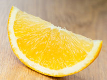 Orange slice closeup Royalty Free Stock Image