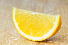 Orange slice closeup Royalty Free Stock Photography