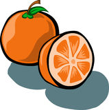 Orange and Slice Stock Photo