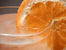 Orange slice - detail Royalty Free Stock Image