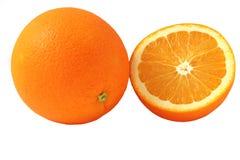Orange. Slice of fresh orange on white background Stock Image