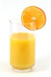 Orange slice on glass. Royalty Free Stock Photo