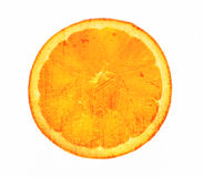 Orange slice grunge white background Stock Photos