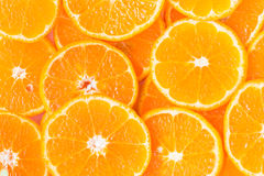 Orange slice for healthy food Stock Photos