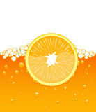 Orange Slice In The Juice Royalty Free Stock Images