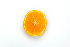 Orange slice. Isolated over white background Royalty Free Stock Images