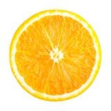 Orange slice isolated. Single orange slice isolated on white background stock images