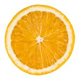Orange slice isolated on white. Background with clipping path Royalty Free Stock Image