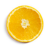 Orange slice isolated on white, from above Stock Photo