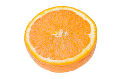 Orange slice isolated on white background Royalty Free Stock Photos