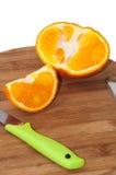 Orange and slice of orange Royalty Free Stock Image
