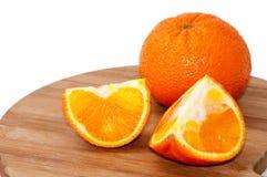 Orange and slice of orange Stock Photography